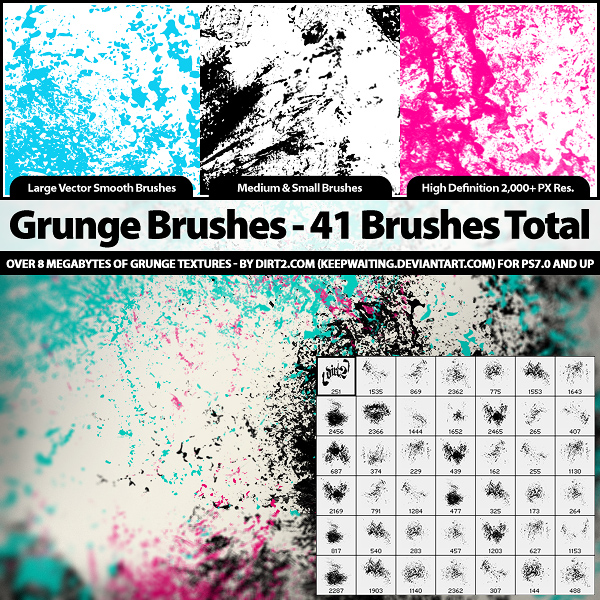 41 high definition grease stains PS brushes