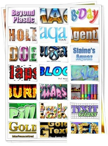 800 models palette of effects fonts PS action Collection