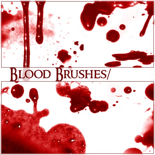 Blood trickle PhotoShop Brushes