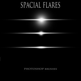 Brush the flares light PS high definition space