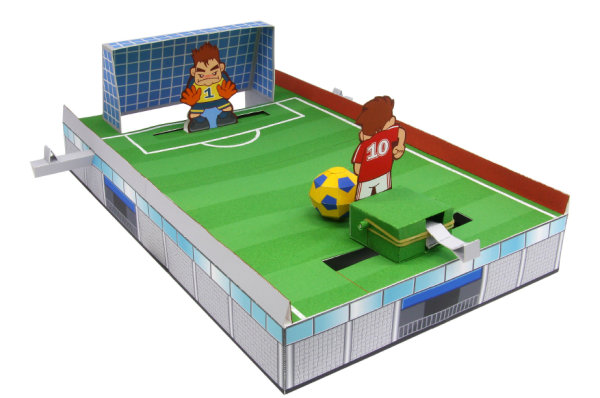 Football PK tournament game   molded paper
