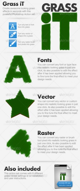 GraphicRiver Production of one of the PS Series action green lawns including MAC system action