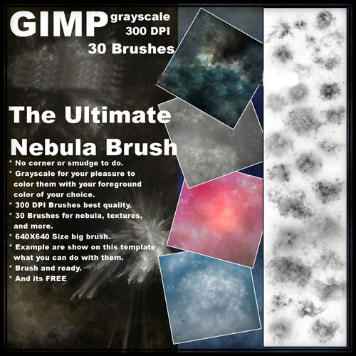 High Definition GIMP cosmic nebula brushes the Enclosing Note