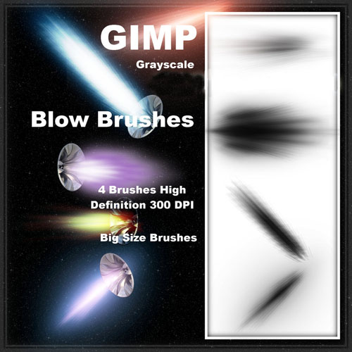 High Definition GIMP injection light brush included instructions