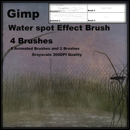High Definition GIMP the rain ripples brush the Enclosing Note