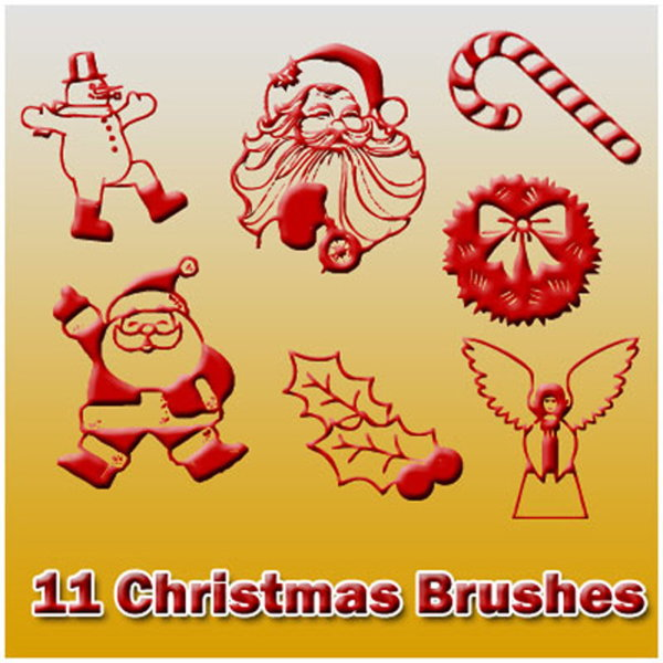 High Definition the Christmas element Brushes