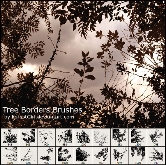 High Definition trees of PS brushes
