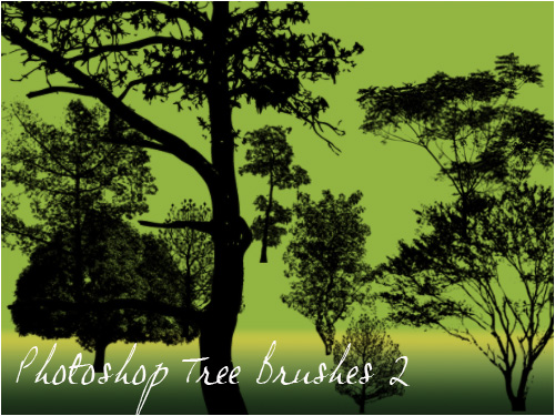 High definition trees PS brushes 2