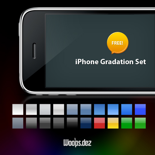Iphone style PS gradient