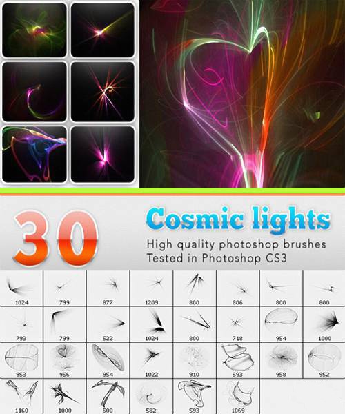 The High Definition universe light PS brushes
