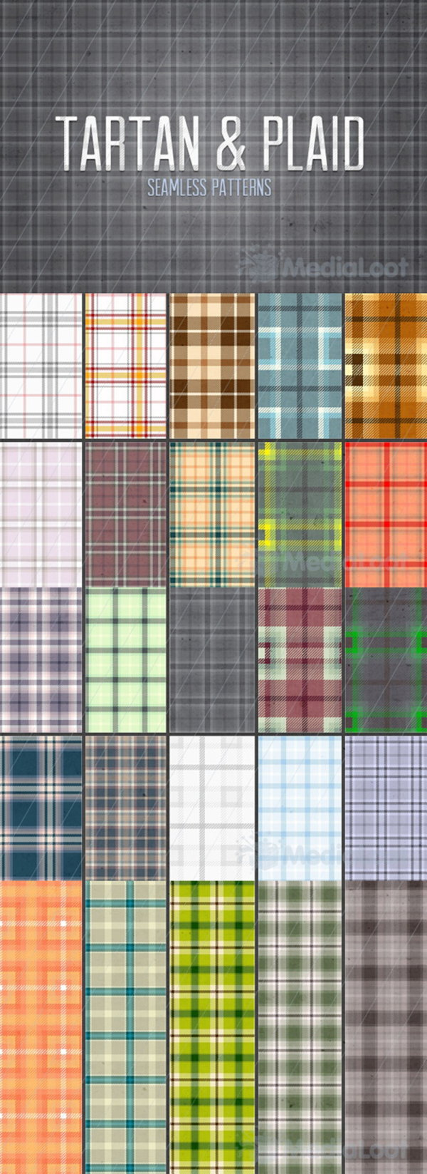 The Photoshop grid pattern set including PNG images