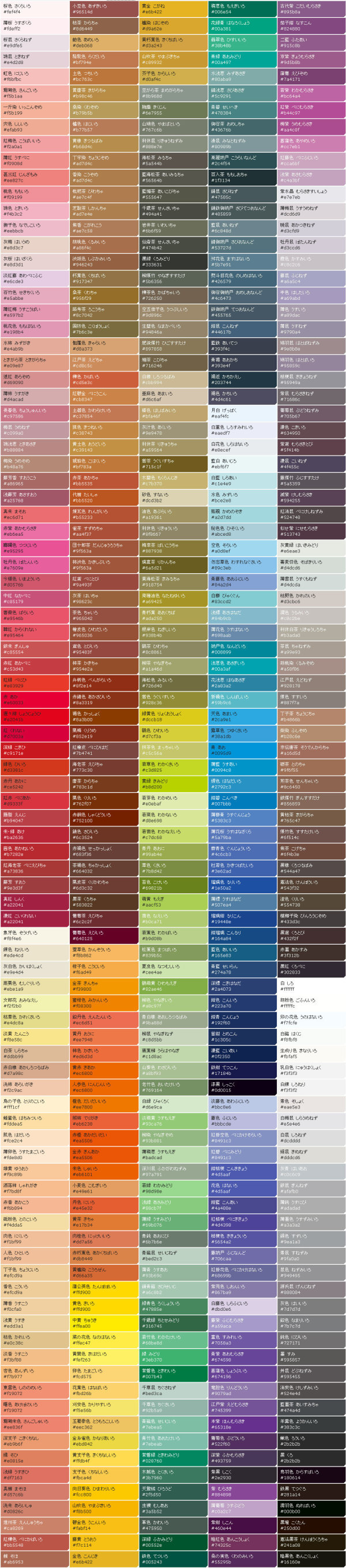 The color table Daquan