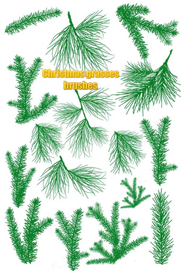 The high clarity Christmas tree branches leaves PS brush