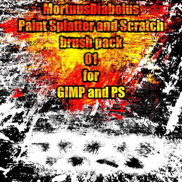 The high clear pigment splash and scratching PS brush 01