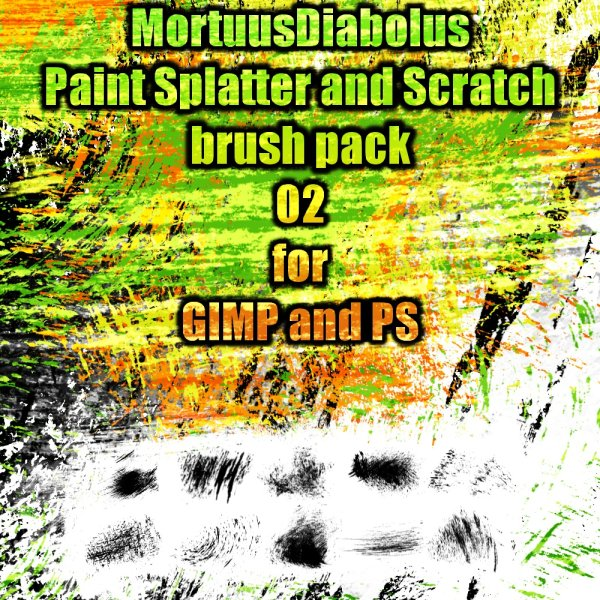 The high clear pigment splash and scratching PS brush 02