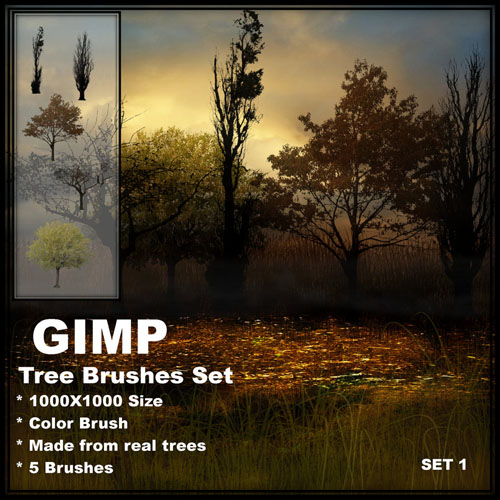 The high definition GIMP trees brush the Enclosing Note