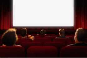 Blank movie screen high definition picture
