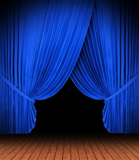 Blue curtain lights HD picture
