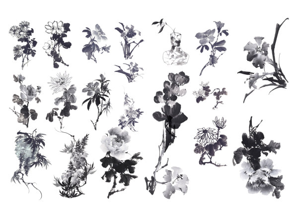Chinese Painting the Ink Flower HD picture 20