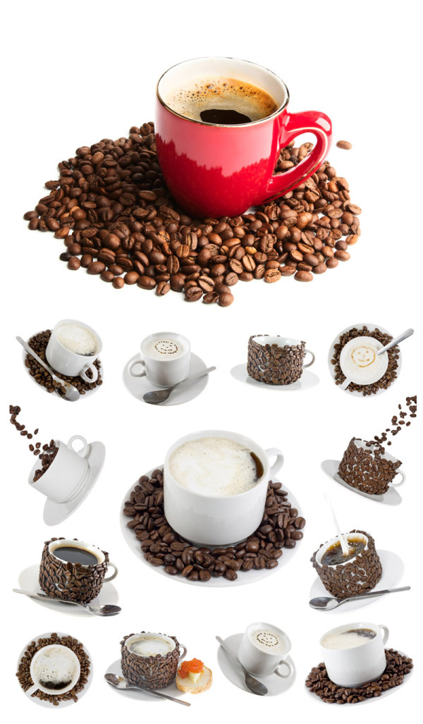 Coffee and coffee beans   HD picture 2