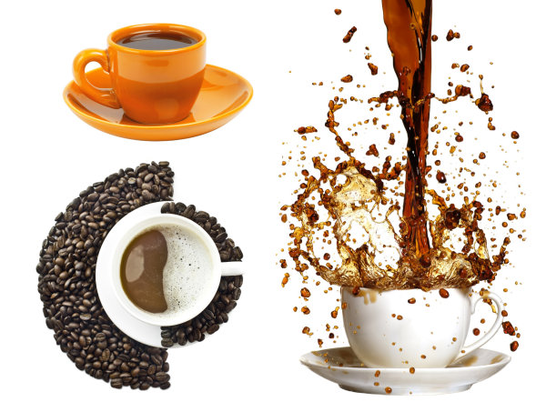 Coffee and coffee beans   HD picture