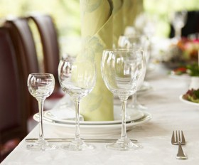 Dining table close up picture material