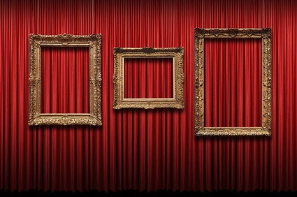 European ornate picture frame picture material  1