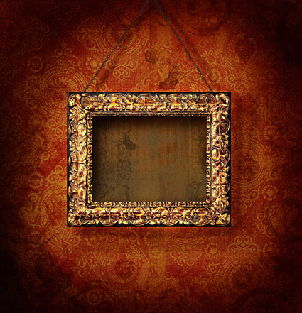 European ornate picture frame picture material  3