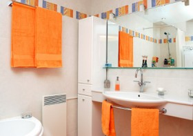 Fashion colors to match the bathroom Images