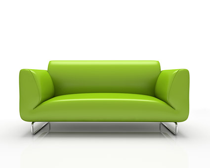 Green fashion sofa picture material  2