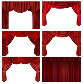 HD picture of a red curtain curtain