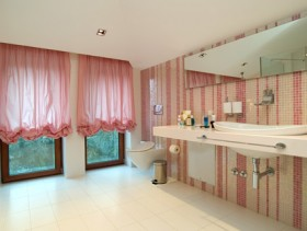 Images of pale pink style stylish bathroom