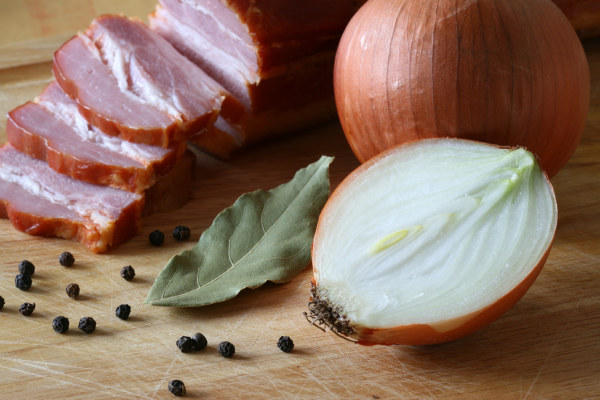 Onion and bacon and HD Images