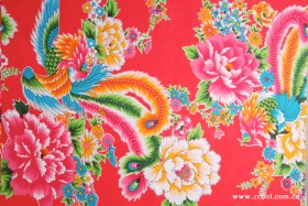 Phoenix Peony Chinese fabric background HD pictures