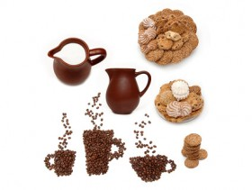 Snack milk coffee boutique Images