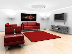 Stylishly decorated living room picture material  2