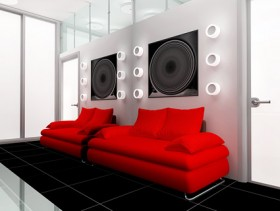 Stylishly decorated living room picture material  4