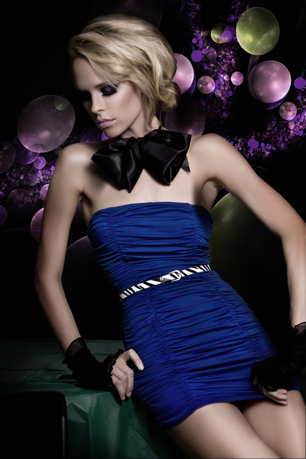 Blue Charm woman Evening lure high quality pictures
