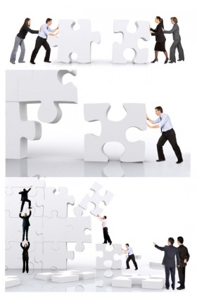 Business figures Jigsaw HD pictures
