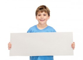 Children and paperboard 03   HD Images