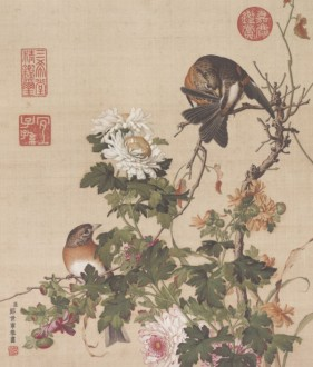 Chinese painting flowers and birds HD picture