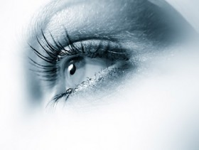 Female eye close up picture material