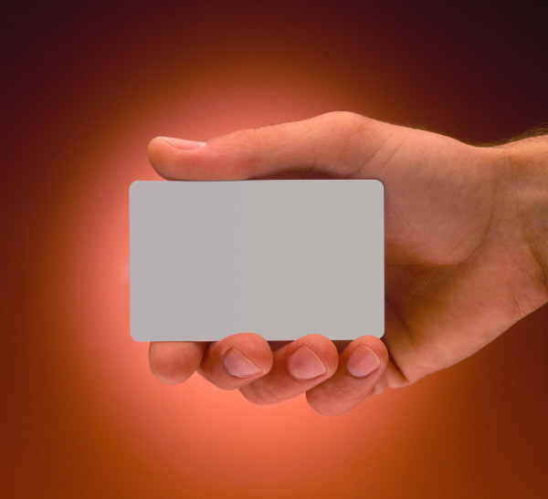 Holding a blank business card HD pictures