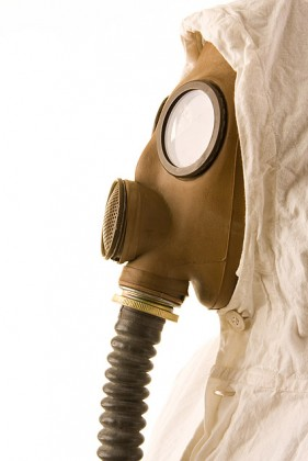 Images  5 figure wearing a gas mask