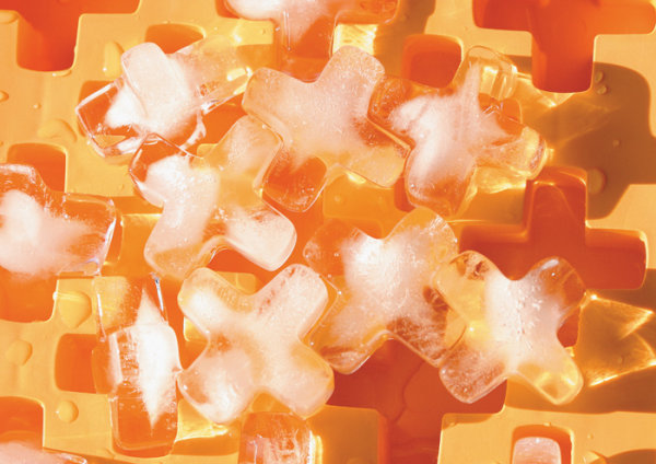 Orange X shaped ice definition picture