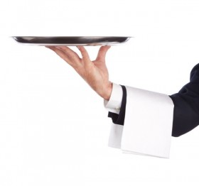 Waiter tray posture 01   HD Images