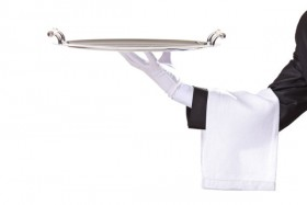 Waiter tray posture 02   HD Images