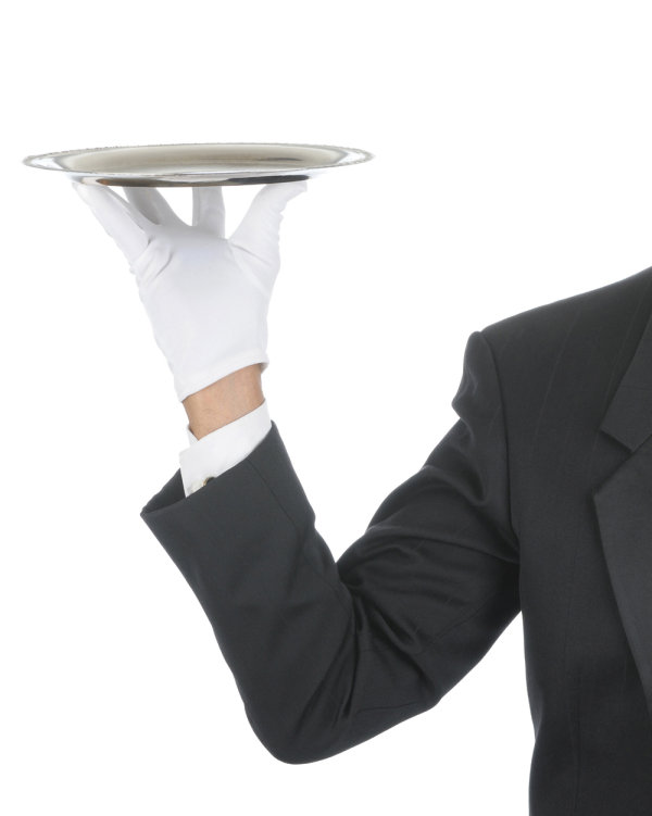 Waiter tray posture 03   HD Images
