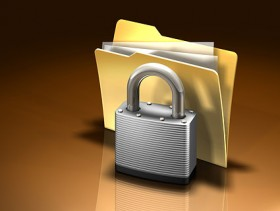 3D locked file folder Images