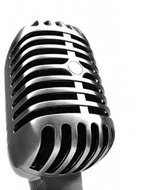 Microphone close up picture material